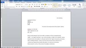 How To Write A Cover Letter Youtube How To Write A Cover Letter For Job