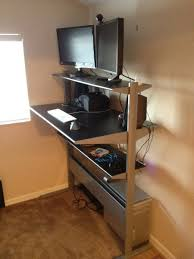 Standing Office Desk Ikea Brilliant Standing Work Desk Ikea Up At Your Insane Or Not Blog Marketing Academy Office T