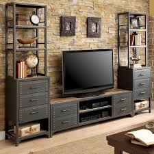Industrial style furniture Rustic Shop Furniture Of America Vectra Industrial Style Metal Tv Stand On Sale Free Shipping Today Overstockcom 21142262 Overstock Shop Furniture Of America Vectra Industrial Style Metal Tv Stand