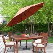 patio table umbrellas. Brilliant Patio SpunPoly Push Button Tilt Patio Umbrella With 40 In Table Umbrellas