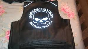 harley willie g leather vest reflective skull vest 2 jpg