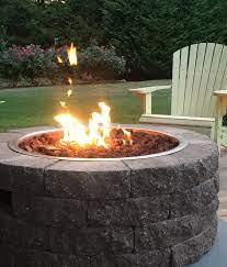 gas fire pit kit propane natural