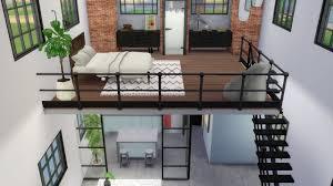 Sims 3 Design The Sims 4 Industrial Loft Speed Build Loft Building