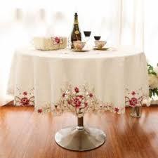 ihambing ang pinakabagong top grade big round table circle table cloth cover minimalist modern wedding fabric