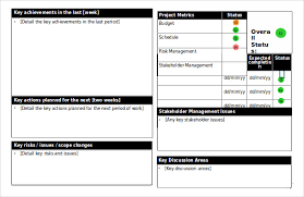 Project Management Report Templates 25 Status Report Templates Free Sample Example Format