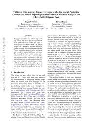 Childhood Essays Tübingen Oslo System Linear Regression Works The Best At