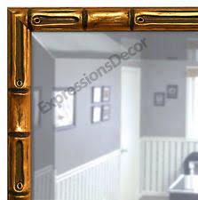 gold bamboo mirror. Custom Gold Bamboo Beveled Wall Mirror, Mantle \u0026 Bathroom Art Decor 052-1025 Mirror