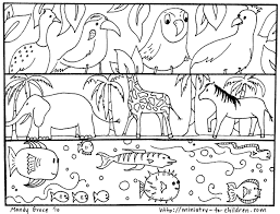open and print this coloring page 20and said let the water teem with living creatures and let birds fly above the earth across the vault