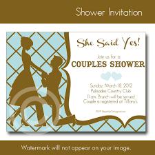 Couples Bridal Shower Invitations Templates Stephenanuno Com