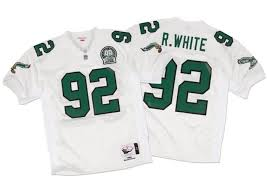 White 1992 amp; Authentic Nostalgia Co Mitchell Philadelphia Jersey Reggie Ness Eagles