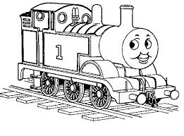 Kleurplaat Thomas De Stoomlocomotief Trein Coloring Train