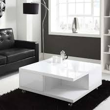 coffee tables storage table high gloss white coffee with drawers in most recently released high