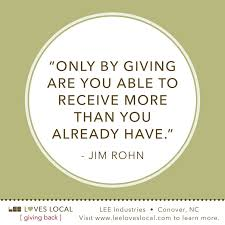 Quotes About Giving Back Interesting Giving Back To Community Quotes Quotesgram 48 QuotesNew