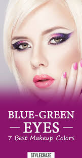 6 best makeup colors for blue green eyes