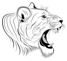 Nálepka Vektorové Lvice Zastoupeny V Podobě Tetování