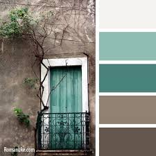 Teal brown color scheme