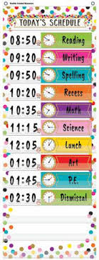 14 Pocket Daily Schedule Pocket Chart Confetti
