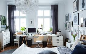 bedroom and office. A Workspace In The Bedroom And Office E