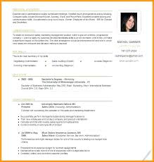 International Format Resume Template Standard Standard Resume Template Free Download