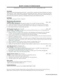 Financial Advisor Resume Objective