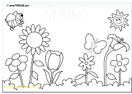 Spring Coloring Pages For Preschoolers Coloring Pages Spring Wit
