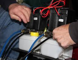 install your own power poles fishing boatus photo of mounting the hydraulic pump units