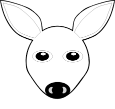 Small Picture Fawn 1 face Black White Line Animal Art Coloring Sheet Colouring