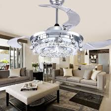 led fan crystal chandelier dining room living room fan droplights with regard to modern home crystal chandelier ceiling fan decor