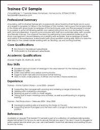 Basic Skills For A Resume Trainee Cv Sample Myperfectcv