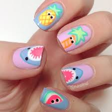 cute and fresh summer nail art for your inspirations 19