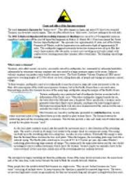 ese earthquake and tsunami causes and effects gcse  cause and effect of the ese tsunami