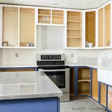 Paint Inside Kitchen Cabinets Stunning How To Paint Unfinished Cabinets Budget Kitchen Remodel Week 48