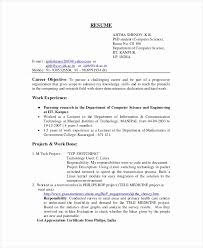 Resume Sample For Lecturer Best of The Proper Computer Science Resume Example Visit To Reads