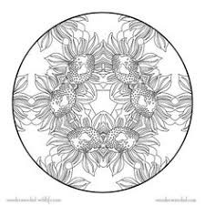 Small Picture Large Sunflower Coloring Picture Free printable preschool level