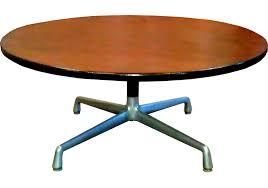 eames aluminum group herman miller walnut coffee table mid century modern furniture revolvemodern com