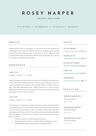 3 Page Resume Template Indd Docx Setdeleteincludesquick Cute