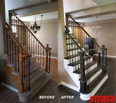 Removing Stair Carpet Hardwood Stair Refinishing Strataline Inc