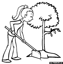 Coloring Pages Plants Flowers Trees Coloring Pages
