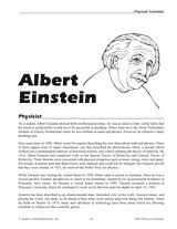 albert einstein physicist teachervision
