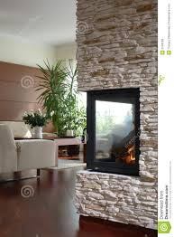Modern Living Room With Fireplace Fireplace In Modern Living Room Royalty Free Stock Image Image