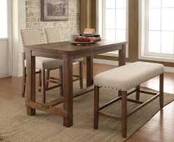 cm3324pt 4pc 4 pc sania natural tone finish wood counter height dining table set with padded chairs