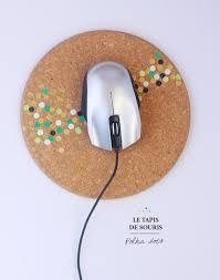 polka dot mouse pad via fraise basilic