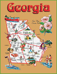 pictorial travel map of georgia