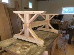 farmhouse trestle table diy kit made