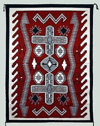 Navajo rug designs for kids Two Grey The Antiques Almanac Caring For Antique Navajo Rugs
