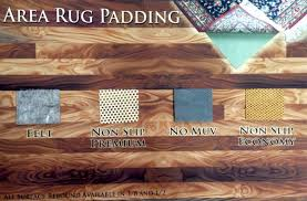 4 types of pads for area rugs