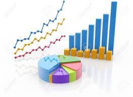 Pie Of Bar Chart Stock Illustration