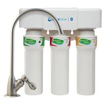 aquasana max flow triple stage carbon block under sink water filtration system