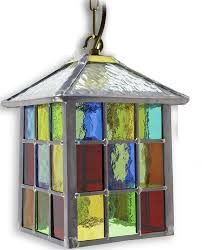 lynmouth multi coloured stained leaded glass porch lantern 64p mc jpg