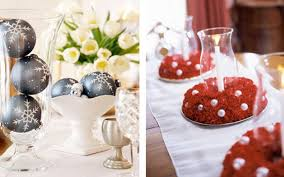 red and white table decorations. Interior. White Candles On The Glass Feat Red Flowers Placed Long Table And Decorations G